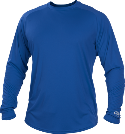 Royal blue LSRT Adult crew neck long sleeve shirt