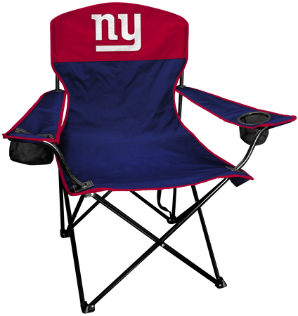 NFL New York Giants Lineman chair with team colors and logo on the back