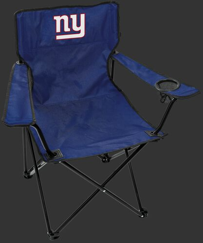 Front of Rawlings Blue NFL New York Giants Gameday Elite Chair With Team Logo SKU #00551078111