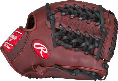 Thumb of a dark sherry PRO204P Heart of the Hide 11.5-inch infield glove with a Modified Trap-Eze web