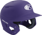 Right angle view of a matte MACH batting helmet with a purple shell image number null