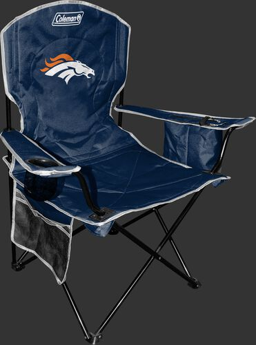 Front of Rawlings Navy Blue NFL Denver Brocos Chair With Team Logo SKU #02771066111