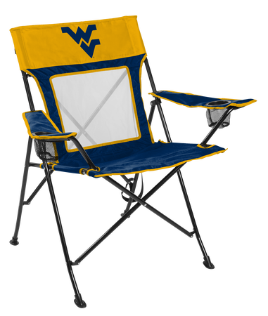 NCAA West Virginia Mountaineers Game Changer chair with the team logo
