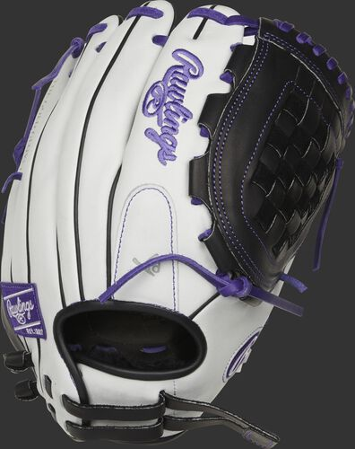 RLA120-3PU 12-inch Liberty Advanced infield/pitcher's basket web glove with a white back and adjustable pull strap