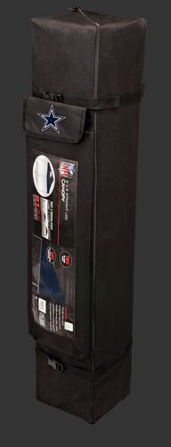 Black carry case of a 9x9 Dallas Cowboys canopy with a team logo on the side compartment - SKU: 03231065112