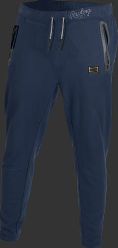 Navy Gold Collection jogger style pants with gray draw strings - SKU: GCJOG-N