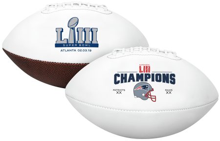 Super Bowl 53 Champions New England Patriots Full Size Football