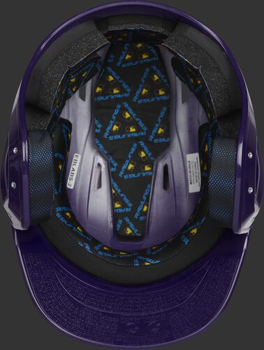 Inside of a purple MCH01A Mach high school helmet