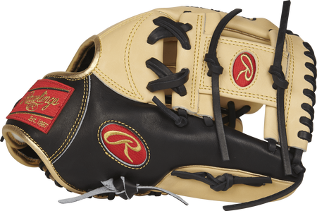 PROSNP5-2CBG 11.75-inch Pro Preferred infield glove with a black/camel thumb and camel I web