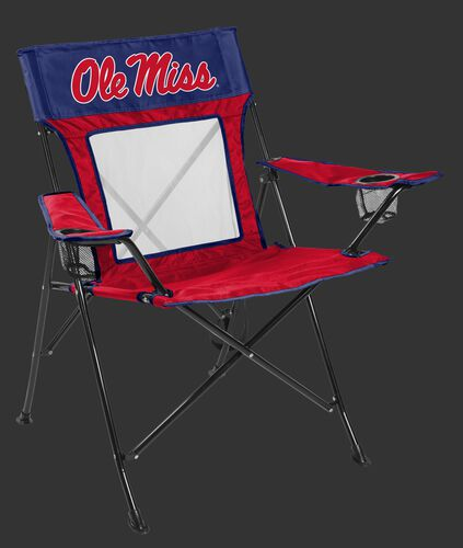 Front of Rawlings Cardinal and Navy NCAA Ole Miss Rebels Game Changer Chair With Team Logo SKU #00643087111