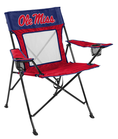 NCAA Ole Miss Rebels Game Changer chair with the team logo