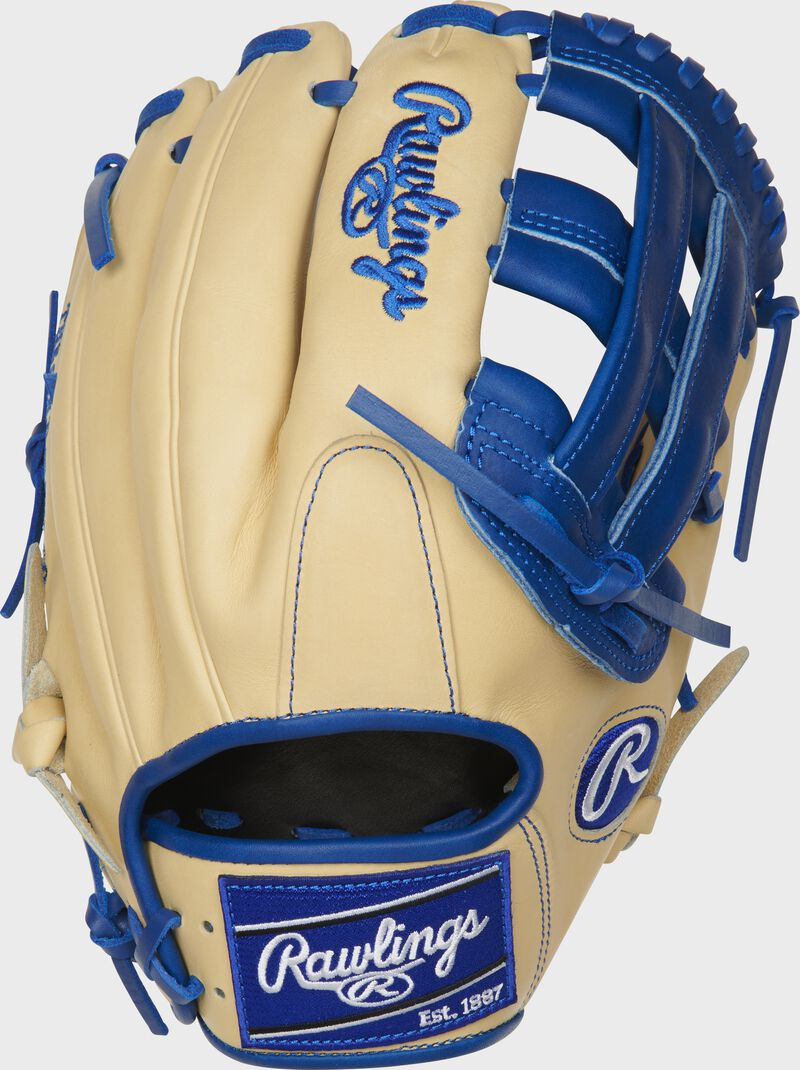 PROKB17-6CR 12.25-inch Heart of the Hide ColorSync H-web infield glove in a Kris Bryant pattern with a camel back