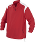 Front of Rawlings Scarlet Adult Long Sleeve Quarter-Zip Jacket - SKU #FORCEJ-B-88 image number null