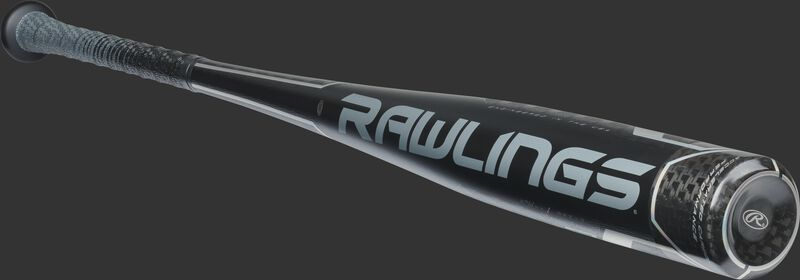 BBZV3 Rawlings high school/college BBCOR baseball bat with a black one-piece construction