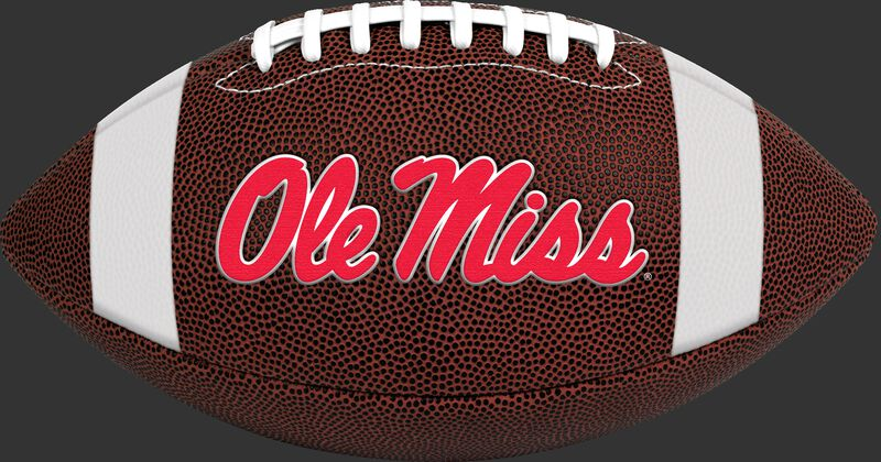Brown NCAA Ole Miss Rebels Football With Team Logo SKU #04623087811