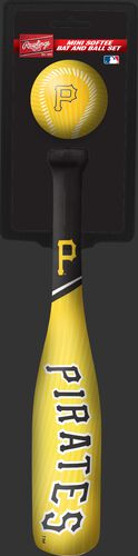 Rawlings Pittsburgh Pirates Softee Mini Bat and Ball Set in Team Colors With Team Name and Logo On Front SKU #01160021114