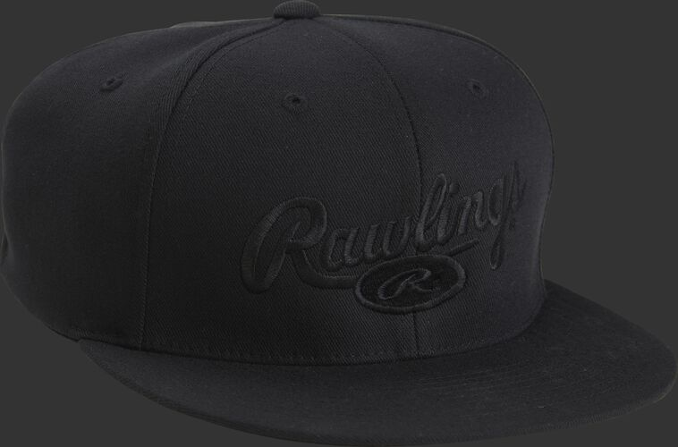 Front of Rawlings Signature Black Logo Hat - SKU #RWRSH