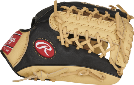Thumb of a black P115CBMT 11.5-Inch Prodigy infield glove with camel trim and a camel Modified Trap-Eze web