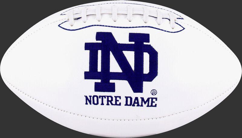 White NCAA Norte Dame Fighting Irish Football With Team Logo SKU #05733093121