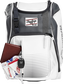 A Rawlings baseball glove in the top compartment of a Franchise baseball backpack - SKU: FRANBP-W image number null