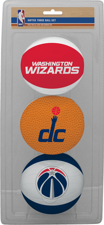 NBA Washington Wizards Three-Point Softee Basketball Set