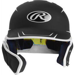 Mach Senior Two-Tone Matte Helmet with EXT Flap Black