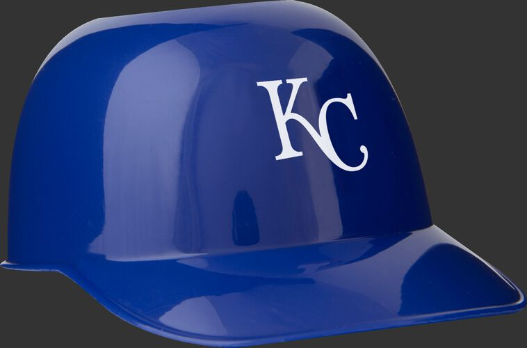 Front of Rawlings Blue MLB Kansas City Royals Snack Size Helmets With Team Logo SKU #01950026121