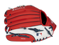 Red back of a LA Angels 10-inch youth glove with the MLB logo on the pinky - SKU: 22000001111 image number null