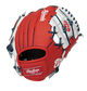 Back of a red/white Washington Nationals 10-inch youth I-web glove with a red Rawlings patch - SKU: 22000031111 image number null