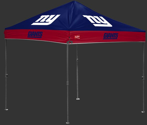 A blue/red NFL New York Giants 10x10 canopy with team logos on each side - SKU: 02231078111