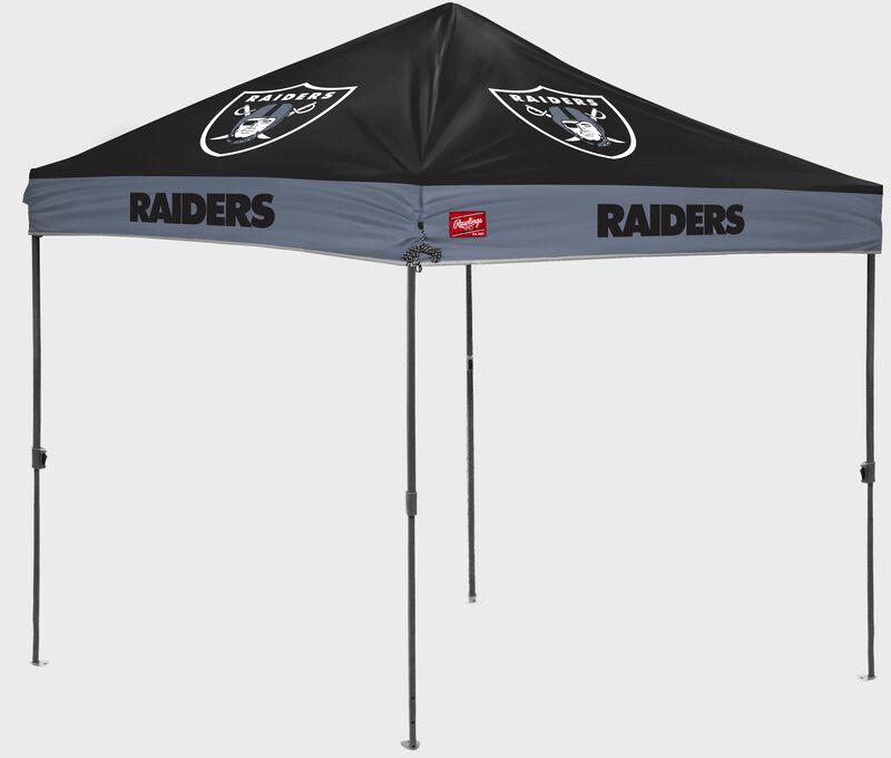 A Las Vegas Raiders 10' x 10' straight leg canopy