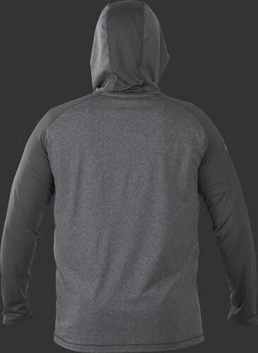 Back of Rawlings Dark Shadow Adult Hurler Lightweight Hoodie - SKU #HLWH-GR/B-88