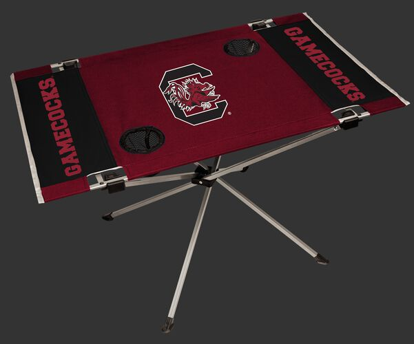NCAA South Carolina Gamecocks Endzone table printed in team colors with logos and features two cup holders SKU #04053098111