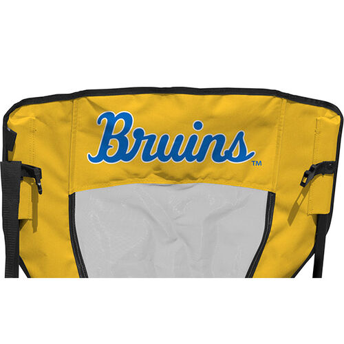 Back of Rawlings Blue and Gold NCAA UCLA Bruins High Back Chair With Team Name SKU #09403065518