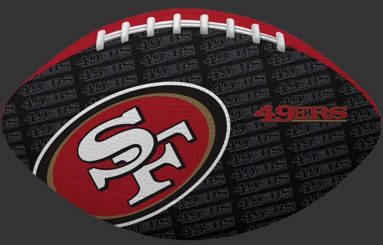 Black side of a NFL San Francisco 49ers Gridiron football with the team logo SKU #09501084122