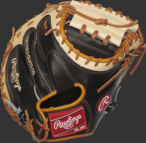 PROSCM33BCT Pro Preferred 33-inch catcher's mitt with a black kip leather back