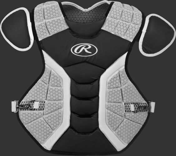A black/grey CPPRO Pro Preferred adult chest protector