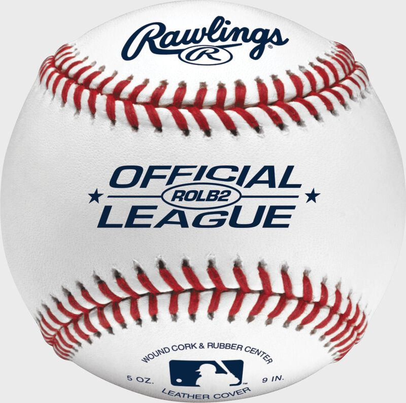 ROLB2 Official League youth practice baseball with raised seams