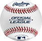 ROLB2 Official League youth practice baseball with raised seams image number null