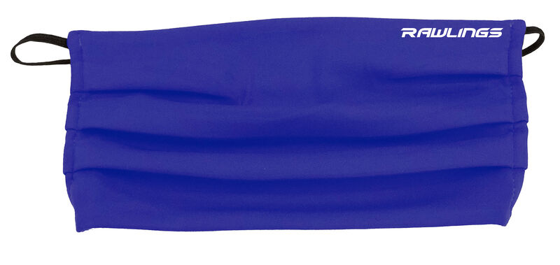 A blue Rawlings performance sports mask with a Rawlings on the top right - SKU: RMSK-BLU