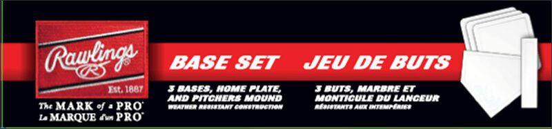 Rawlings White 5-Piece Base Set SKU #BASESET2