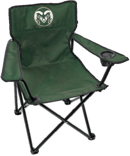 Front of Rawlings Green NCAA Colorado State Rams Gameday Elite Chair With Team Logo SKU #00563013111
