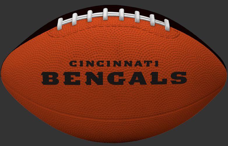 Orange side of a Cincinnati Bengals rubber Gridiron football