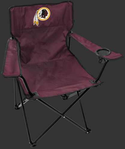 Front of Rawlings Burgundy NFL Washington Redskins Gameday Elite Chair With Team Logo SKU #00551087111
