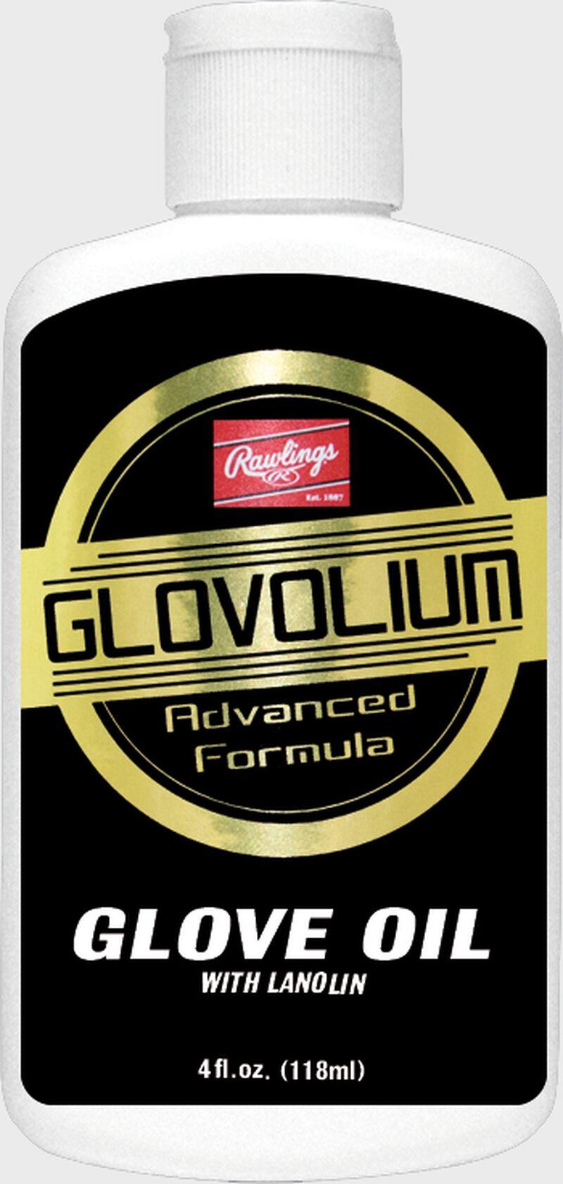 A bottle of Glovolium Glove Oil advanced formula for glove maintenance SKU #G25GIIBP