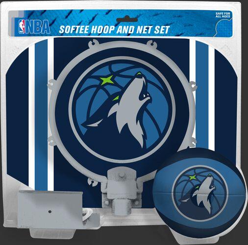 Rawlings Blue and Grey NBA Minnesota Timberwolves Softee Hoop Set With Team Logo SKU #03544214114