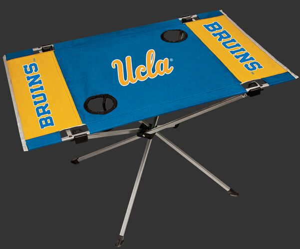 NCAA UCLA Bruins Endzone table in team colors with team logos and two cup holders SKU #04053065111