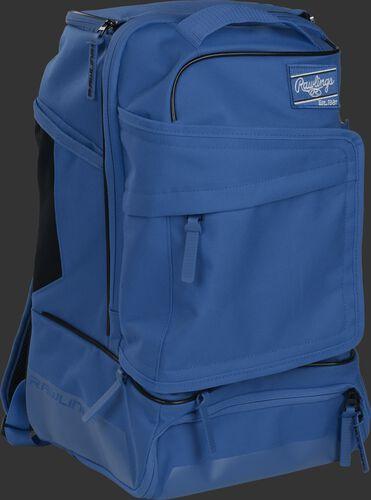 Right angle of a royal R701 baseball backpack