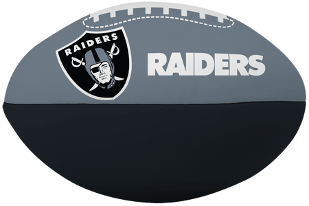 NFL Oakland Raiders Big Boy softee football in team colors with team logos