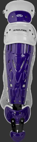 Purple/white LVELI Rawlings Velo intermediate leg guard